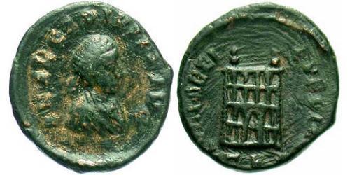 Tremissis  Western Roman Empire (285-476) Bronze Arcadius (377-408)