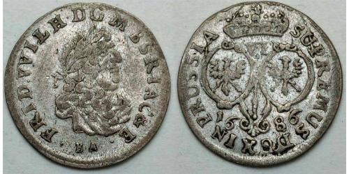 VI grossus Бранденбург-Пруссия (1618-1701) Серебро Фридрих Вильгельм I (1620 - 1688)