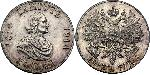 1 Ruble Russian Empire (1720-1917) Silver Nikolay II (1868-1918) / Peter I (1672-1725)