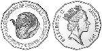 50 Cent Australia (1939 - ) Copper-Nickel Elizabeth II (1926-)