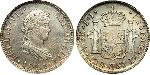 2 Real First Mexican Empire (1821 - 1823) Silver Ferdinand VII of Spain (1784-1833)