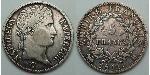 5 Franc First French Empire (1804-1814) Silver Napoleon Bonaparte  (1769 - 1821)