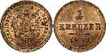 1 Kreuzer Austrian Empire (1804-1867) Copper Franz Joseph I (1830 - 1916)