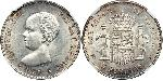 5 Peseta Kingdom of Spain (1874 - 1931) Silver Alfonso XIII of Spain (1886 - 1941)