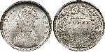 1/2 Rupee Raj Británico (1858-1947)  Victoria (1819 - 1901)