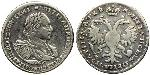 1/2 Ruble Russian Empire (1720-1917) Silver Peter I (1672-1725)