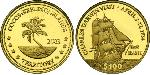 100 Dollar Cocos (Keeling) Islands Gold
