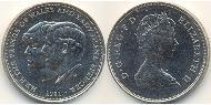 25 Penny Vereinigtes Königreich (1922-) Kupfer-Nickel Elizabeth II (1926-)