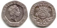 20 Penny United Kingdom (1922-) Copper-Nickel Elizabeth II (1926-)