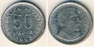 50 Centavo Argentina (1816 - ) Nickel plated steel