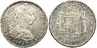 8 Real Chile Silver Charles III of Spain (1716 -1788)