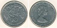 10 Penny Saint Helena (1981 - ) Copper-Nickel Elizabeth II (1926-)