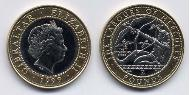 2 Pound Gibraltar Bimetall Elizabeth II (1926-)