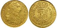 8 Escudo Chile Gold Charles III of Spain (1716 -1788)