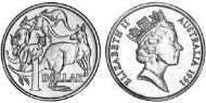 1 Dollar Australia (1939 - ) Nickel-Aluminum-Copper Elizabeth II (1926-)