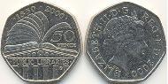 50 Penny Vereinigtes Königreich (1922-) Kupfer-Nickel Elizabeth II (1926-)