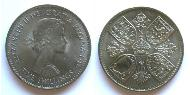 1 Crown United Kingdom (1922-) Copper-Nickel Elizabeth II (1926-)