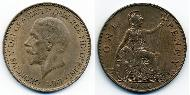 1 Penny United Kingdom (1922-) Bronze George V of the United Kingdom (1865-1936)