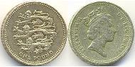 1 Pound United Kingdom (1922-) Brass-Nickel Elizabeth II (1926-)