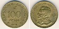 100 Peso Argentina (1861 - ) Aluminium-Bronzo