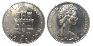 1 Crown Gibraltar Kupfer-Nickel Elizabeth II (1926-)