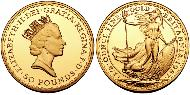 50 Pound United Kingdom (1922-) Gold Elizabeth II (1926-)