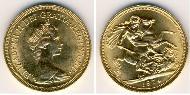 1 Sovereign United Kingdom (1707 - ) Gold Elizabeth II (1926-)