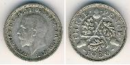 3 Penny United Kingdom (1922-) Silver George V of the United Kingdom (1865-1936)