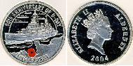 5 Pound United Kingdom (1922-) Silver Elizabeth II (1926-)
