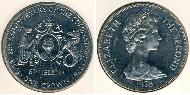 1 Krone Saint Helena (1981 - ) Copper-Nickel Elizabeth II (1926-)