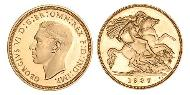 1/2 Sovereign United Kingdom (1922-) Gold George VI (1895-1952)