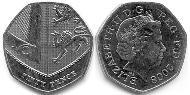 50 Penny United Kingdom (1922-) Silver Elizabeth II (1926-)