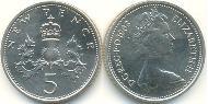 5 Penny United Kingdom (1922-) Copper-Nickel Elizabeth II (1926-)