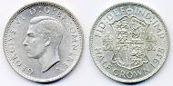 1/2 Crown United Kingdom (1922-) Silver George VI (1895-1952)