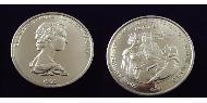 1 Crown Turks and Caicos Islands Copper-Nickel Elizabeth II (1926-)