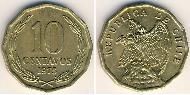 10 Centavo Chile Brass
