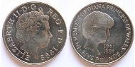 5 Pound United Kingdom (1922-) Copper-Nickel Elizabeth II (1926-)