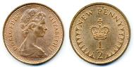 1/2 Penny United Kingdom (1922-) Copper Elizabeth II (1926-)