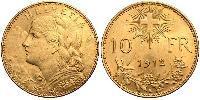 10 Franc Switzerland Or