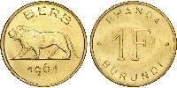 1 Franc Burundi Brass