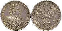 1 Ruble Russian Empire (1720-1917) Silver Peter I (1672-1725)