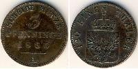 3 Pfennig Kingdom of Prussia (1701-1918) Copper