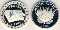 1 Rand South Africa Silver