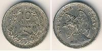 10 Centavo Chile Silver/Copper-Nickel