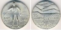 25 Mark Finland (1917 - ) Silver