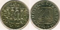 20 Shilling Republic of Austria (1955 - ) Alluminio