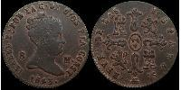 8 Maravedi Kingdom of Spain (1814 - 1873) Copper Isabella II of Spain (1830- 1904)