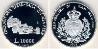 10000 Lira San Marino Argento