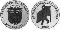 200 Balboa Republic of Panama Platinum