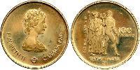 100 Dólar Canadá Oro Isabel II (1926-)